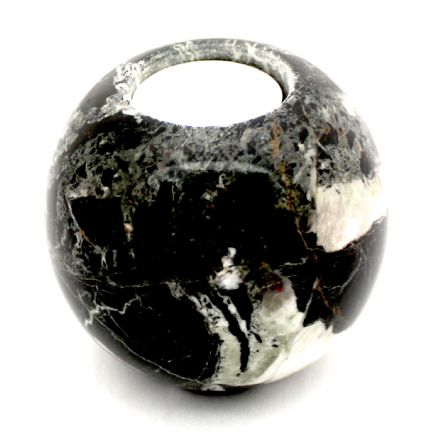 Black Marble Tea Light Holder